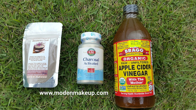 DIY Clay and Charcoal Mask ingredients - www.modenmakeup.com