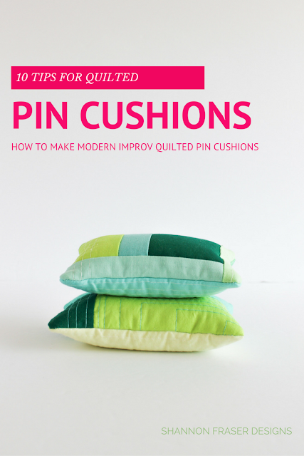 Top 10 Tips for DIY Modern Quilted Pin Cushions | Free Tutorial | Shannon Fraser Designs | Sewing Quilting Notions and Tools | Sewing Kit Essentials | Quilting Tools