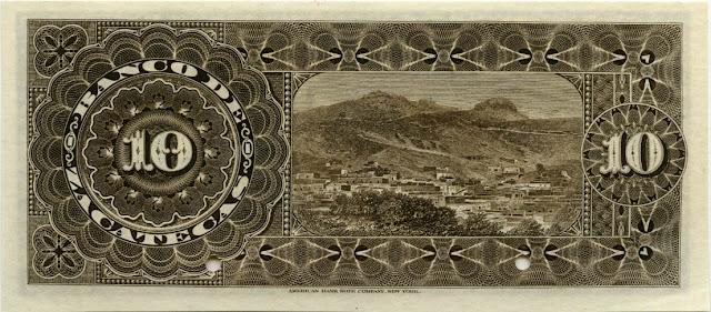 Mexican banknote 10 Pesos bill