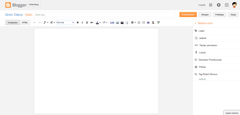 halaman entri