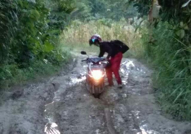 Jalan Utama Desa Lawewe Rusak Parah dan Berlumpur, Warga Minta Perhatian Pemkab Lutra