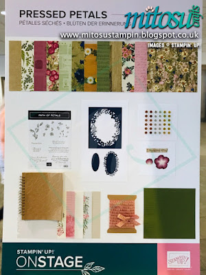 Pressed Petals Suite NEW Stampin' Up! Products #onstage2019 Display Board from Mitosu Crafts UK