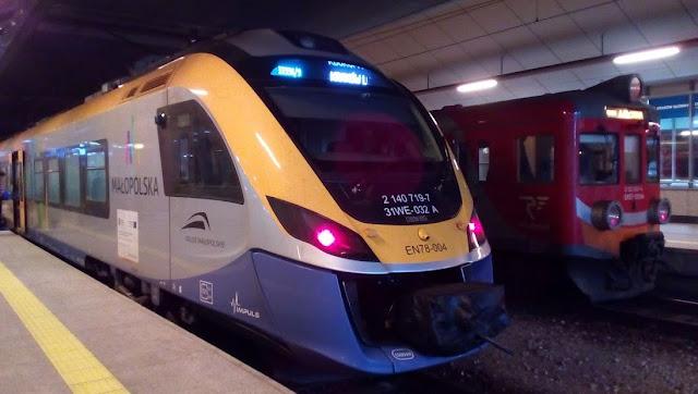 treno per l'aeroporto di Cracovia
