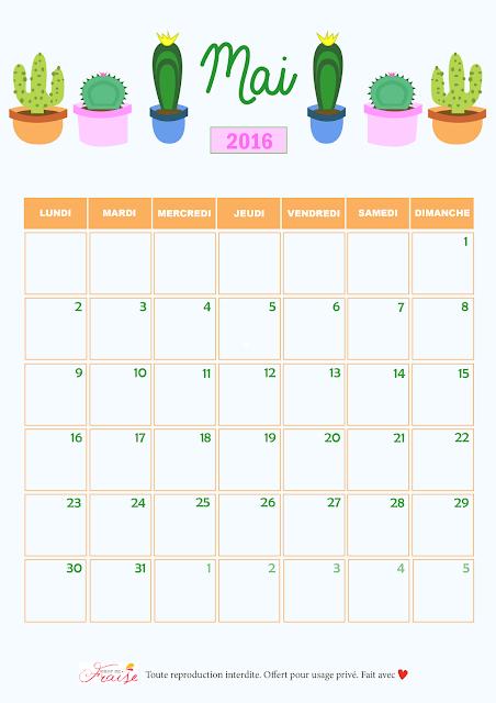 calendrier diy mai 2016