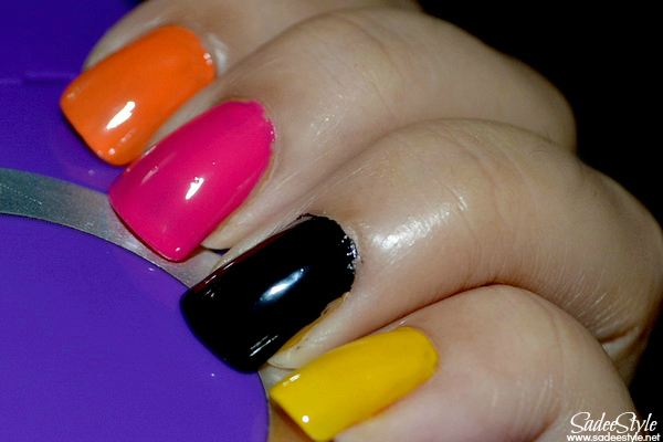 So So Skullicious Mini Nail Lacquers Look (Opi Pumpkin, Opi A rose from dead, Opi Mourning glory, Opi Candle light)
