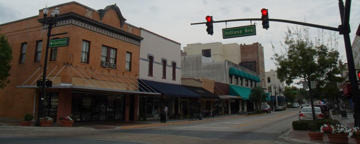 Downtown o centro de DeLand