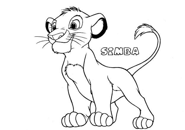 Free Printable Simba Coloring Page