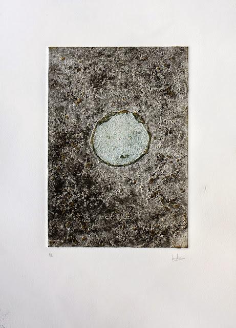 Dentro, collagraph realizado por Indra Ruiz - Yoviendo Árboles