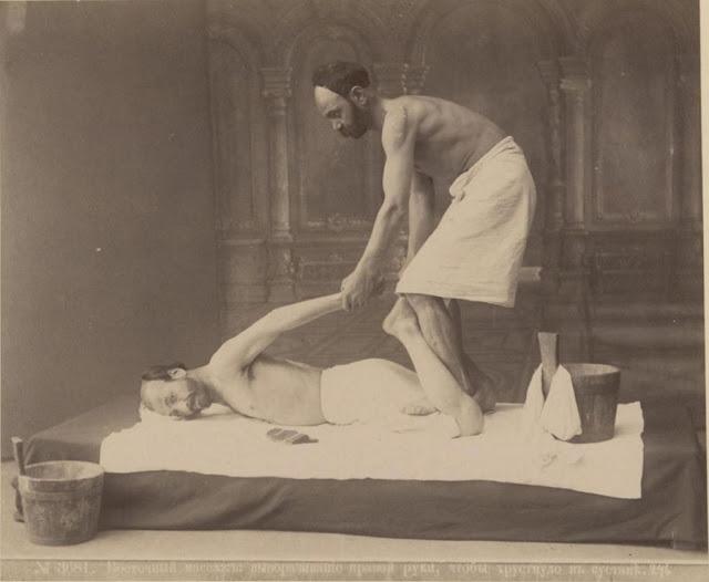1890-е, Тифлис. Работа банщика-мекисе в знаменитых восточных банях в Тифлисе
