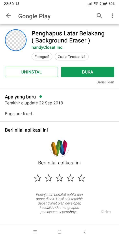 Cara Mudah Menghilangkan Background Gambar di Android