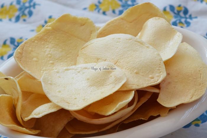 Sun Dried Potato Chips  Homestyle Crispy Aloo Wafers - Magic of Indian Rasoi