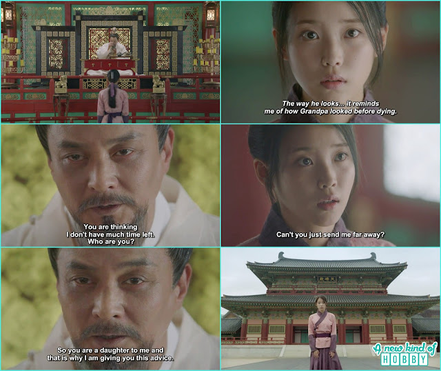 after drinking the tea king order ji monk to call hae soo and ask advice as she knew the future don't meddle in palace business so she can be safe - Moon Lover Scarlet Heart Ryeo - Episode 12 - Review