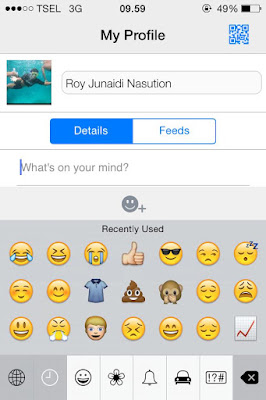 Menampilkan Emoticon Keyboard Di iPhone