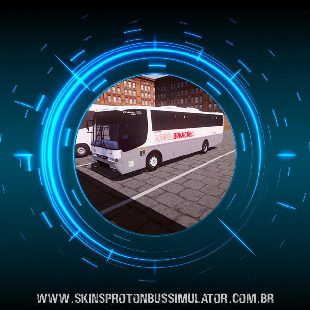 Skin Proton Bus Simulator - El Buss 340 MB OF-1721 Euro II 4X2 Viação Aguia Branca
