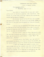first page of letter to Pishon's sister from Captain Galiher