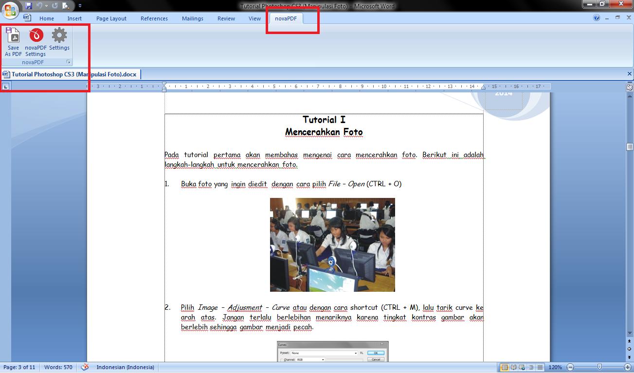 Screenshot Penggunaan DoPDF