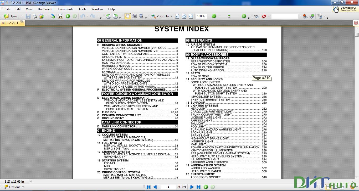 Mazda 3 2012 Wiring Diagram