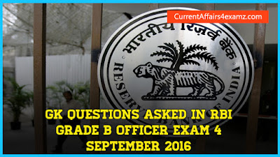 RBI Grade B Officer Exam 4 September 2016
