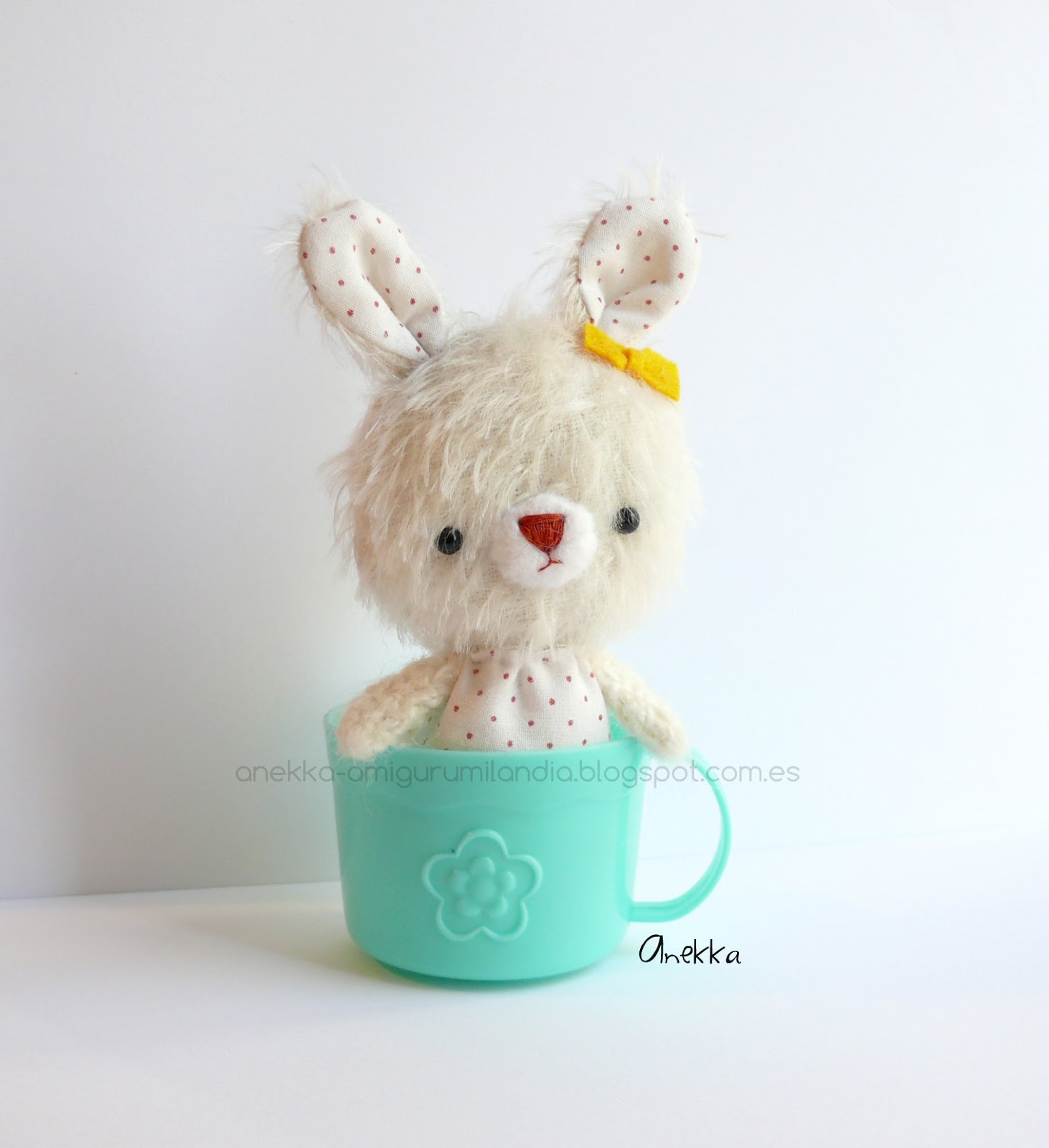 bunny amigurumi mohair handmade