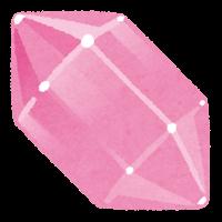 鉱石のイラスト(ピンク)