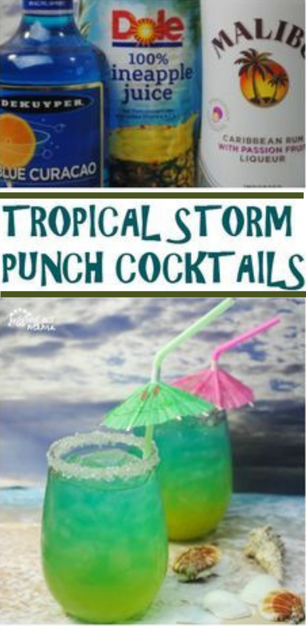 TROPICAL STORM PUNCH #healthydrink #punch