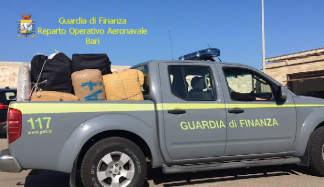 2 tons of cannabis caught by Italians on Adriatic Sea, 4 Albanians arrested