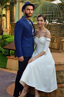 Deepika Padukone with her husband Ranveer Singh