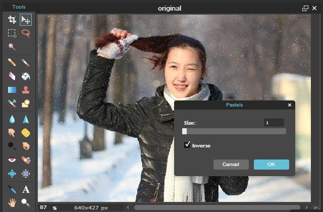Efek Salju Pada Foto Online