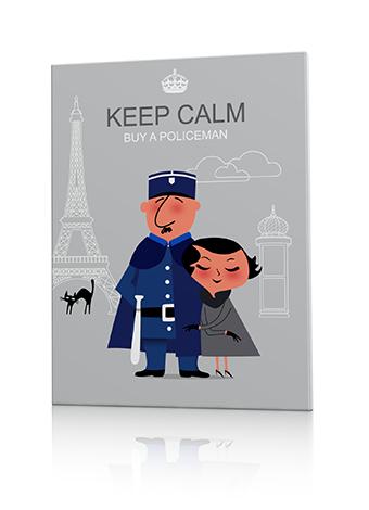 tableau policier vintage paris