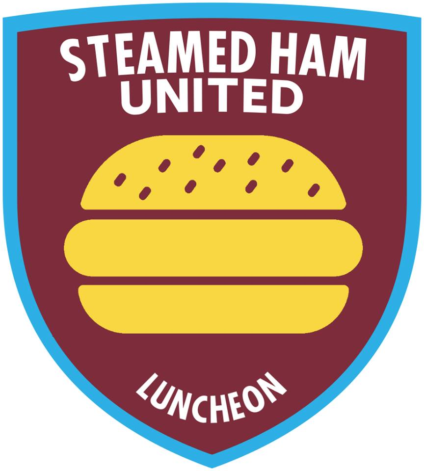 The Simpsons' version logo of West Ham