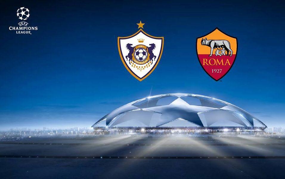 Champions League: QARABAG-ROMA è terminata con il risultato di 1-2