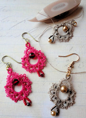 Yarnplayer S Tatting Blog Simply Quot Giddy Quot Tatted Earrings