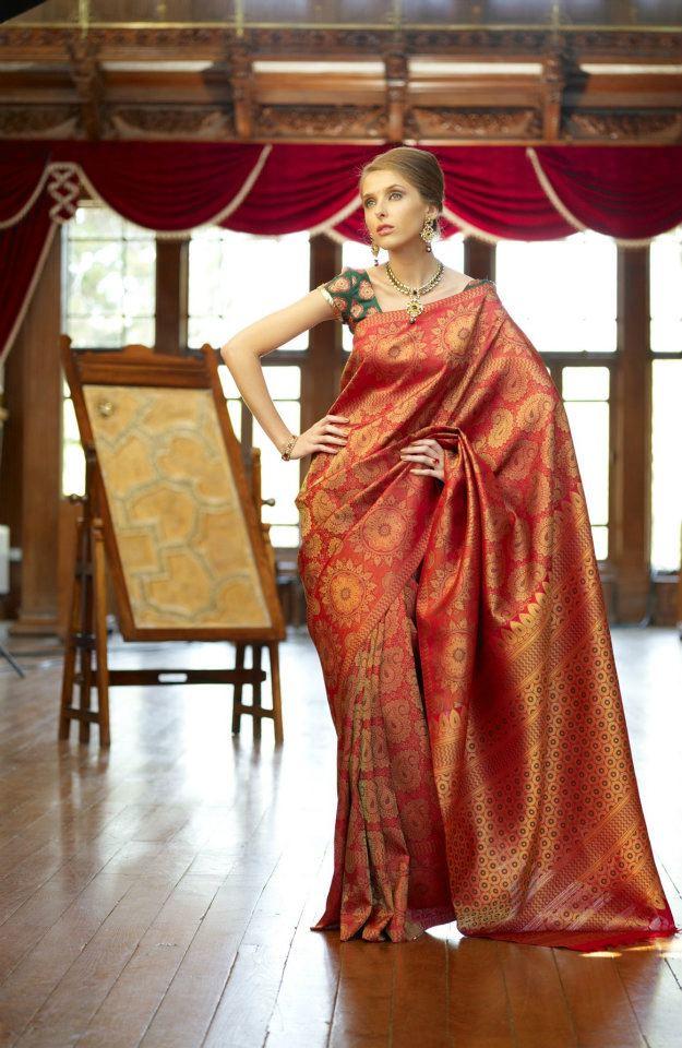 Indian Jewellery And Clothing Elegant Bridal Kanjeevaram