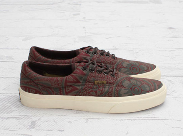 6623cfda54fc ... Vans California Era Washed Paisley is an easy-to-wear sneaker that  comes in chocolate brown colorway. It sports a subtly print all over the  upper