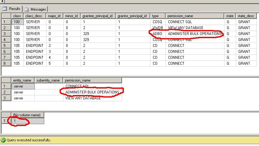 SQL Stuff: Admin: Bulkadmin vs ADMINISTER BULK OPERATIONS