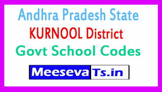 KURNOOL District Govt School Codes in Andhra Pradesh State