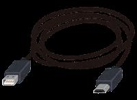 MicroUSB端子の付いたケーブルのイラスト2