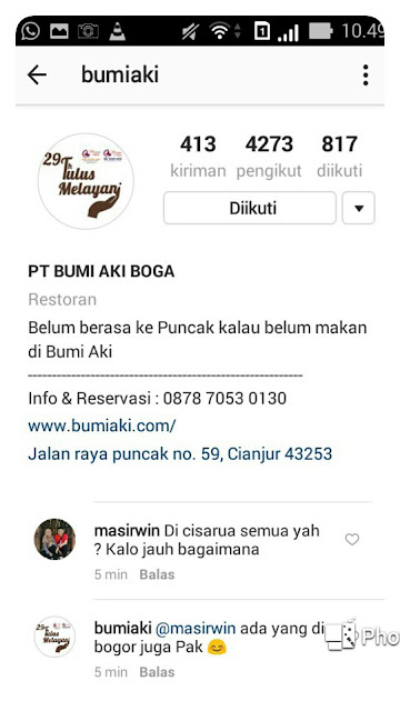 Bumi Aki Official Instagram