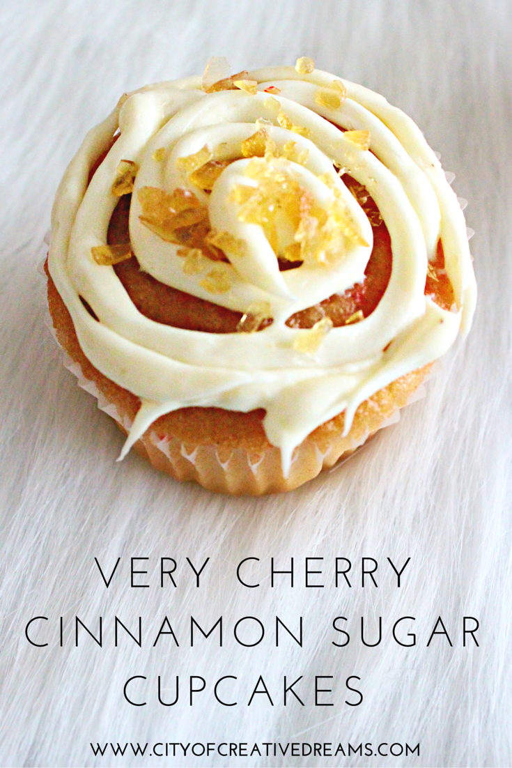 Very Cherry Cinnamon Sugar Cupcakes | City of Creative Dreams