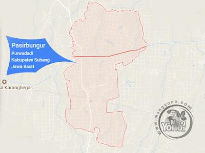 PETA : Desa Pasirbungur, Kecamatan Purwadadi