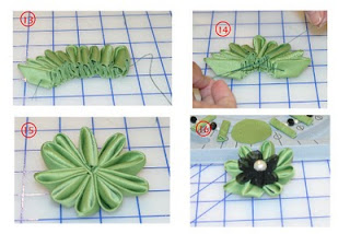 como hacer una flor kanzashi