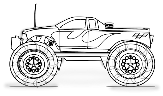 Monster Truck Printable Coloring Pages