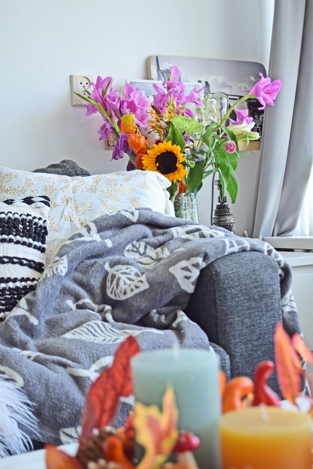 Koce i poduszki na kanapę