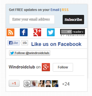 All In One Social Widget for Blogger