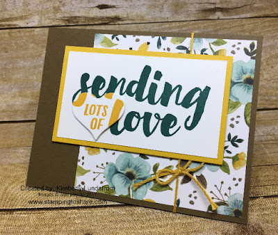 Stampin' Up! Lots of Love created by Kim Lundstrom for Stamping to Share July Demo Meeting Swap.