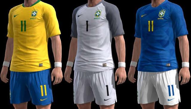 Brasil 2018 Kit PES 2013