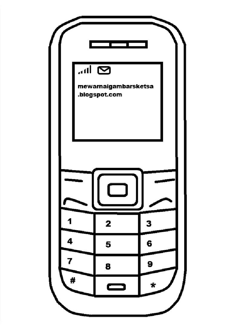 Download Sketsa Gambar Handphone