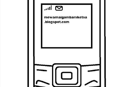Gambar Mewarnai Handphone