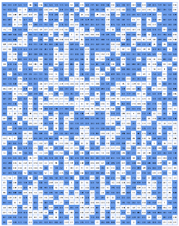gridded dungeon map with divisible-by-3 rule applied