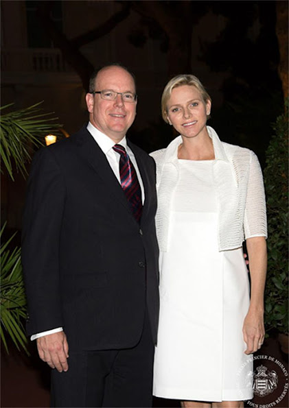 Prince Albert and Princess Charlene attended a charity concert